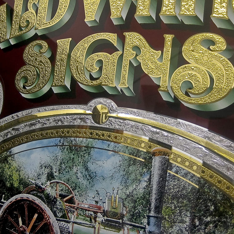 Gerald Whittaker Glass Sign