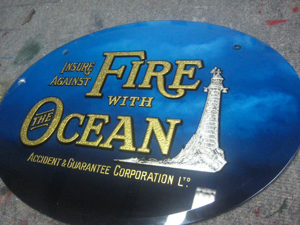Restored Glass Signs