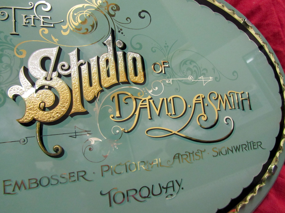 Dave Smith Victorian Reverse Glass Sign