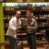 My Brother and his friend in Dubai duty free with my bottle design