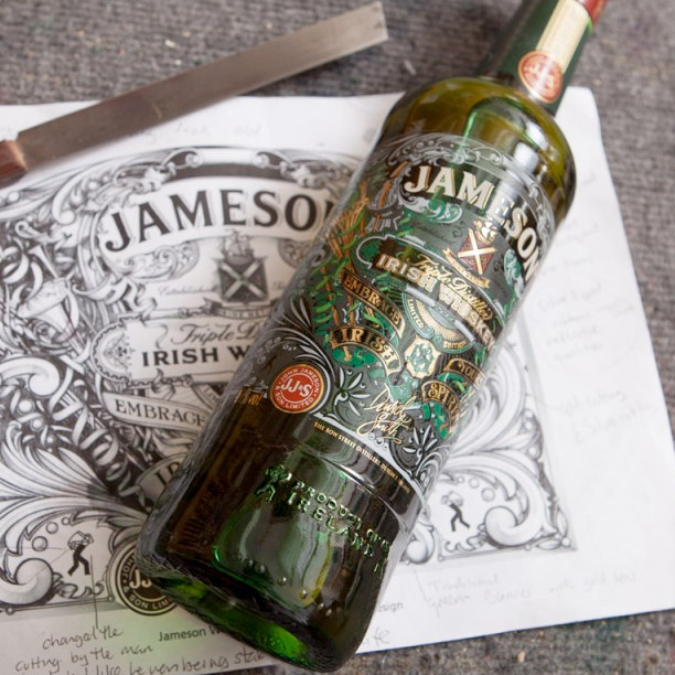 Jameson Whiskey, Label Design for St. Patricks Day 2013