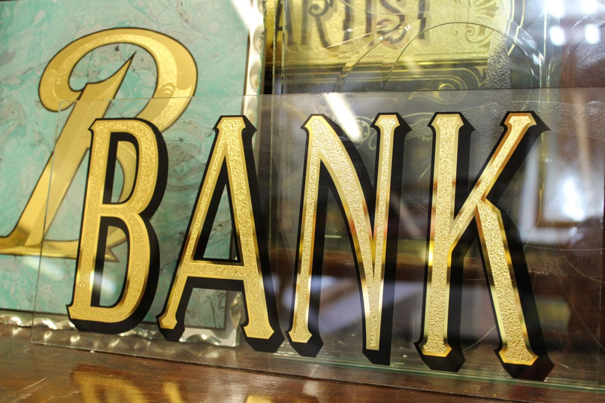 Victorian Bank Lettering